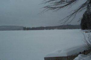 Percy Lake covered in heavy snow