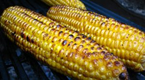 Corn roasting on a grill