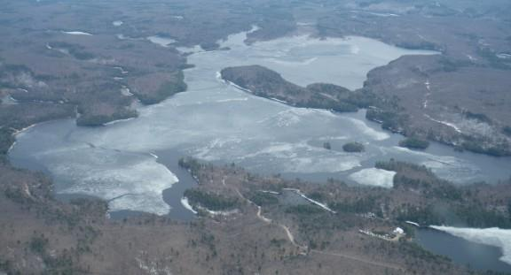Aerial photo of Percy Lake